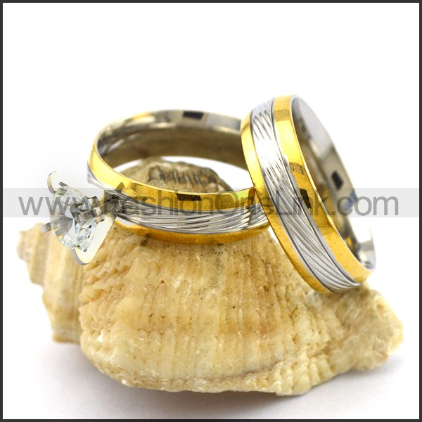 Exquisite Stainless Steel Couple Ring    r003072