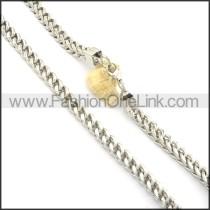 Elegant Silver Stamping Necklace   n000519