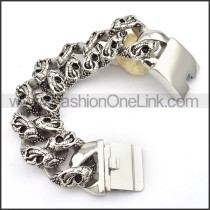 Snake Stainless Steel Animal Bracelet b000564