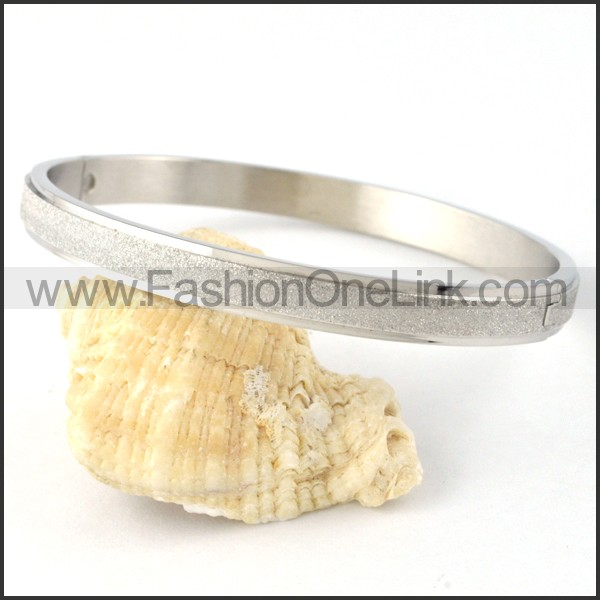 Polishing Silver Couple Bangle b000414