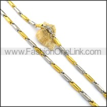 Two Tone Plated Necklace n001061
