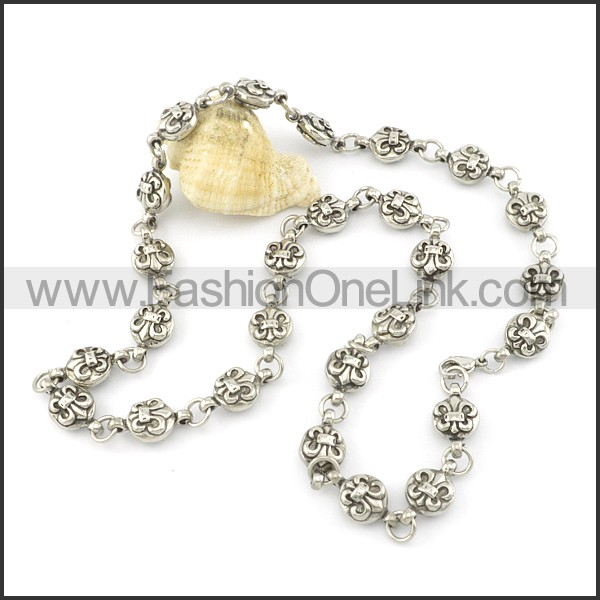 Delicate Flower Casting Necklace   n000484