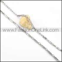 Delicate Silver Chain Stamping Necklace   n000074
