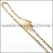 Twisted Rope Plated Necklace    n000055