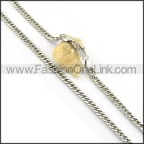 Elegant Silver Stamping  Necklace n000597