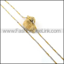 Two Tone Plated Necklace n001057