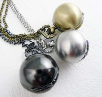 Unique Metal Ball Old Antique Brass or Silver or Gun Metal watch PW000074