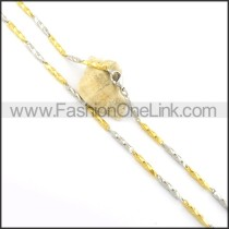 Delicate Stainless Steel Plated Necklace n000562