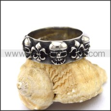 Vintage Stainless Steel Skull Ring  r003266