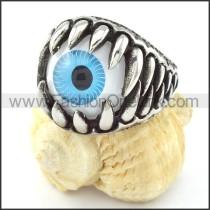 Stainless Steel Huge Blue Eye Ball Ring  r000734