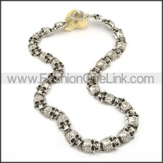 Stainless Steel Skull Necklace       n000200