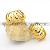 Ring Stack Design Stainless Steel Earrings  e000084