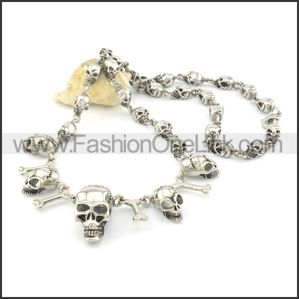 Delicate Skull Necklace  n000505