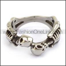 Stainless Steel Skull Ring  r003681