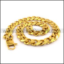 Gold Hasp Stamping Necklace n001132