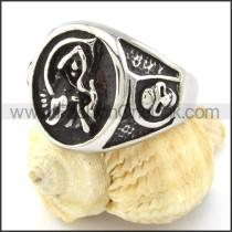 316L Steel Skull Ring r000828