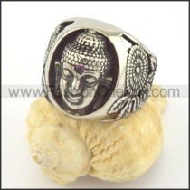 Stainless Steel Buddha Ring  r001419