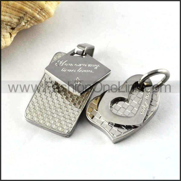 Exquisite Stainless Steel Couple Pendants p000084