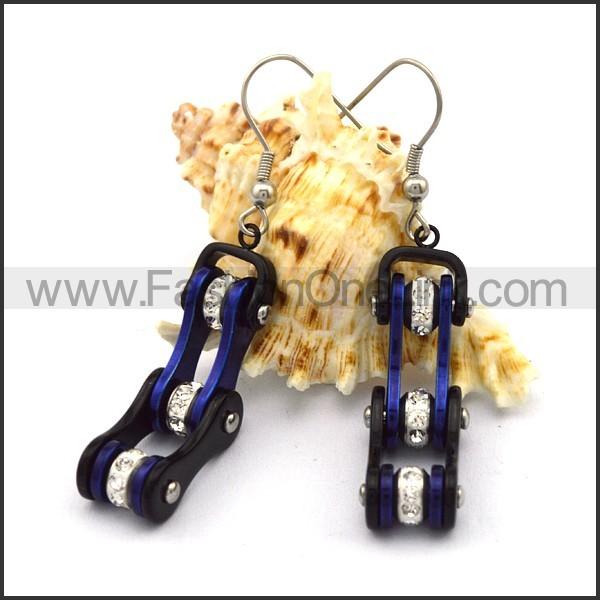 Fashion Stainless Steel Biker Earrings    e001062