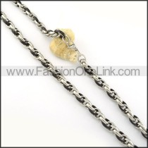 Succinct Black and Silver Plated Necklace     n000279