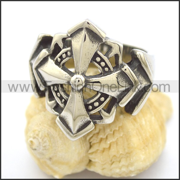 Delicate Vintage Stainless Steel Ring  r002311