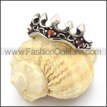 Stainless Steel Royal Crown Ring r000451