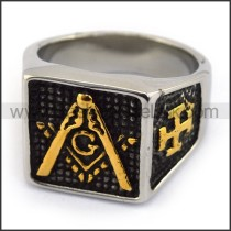 Exquisite Stainless Steel Casting Ring  r003611