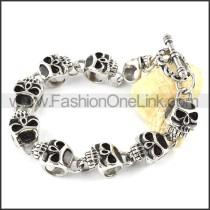 Exquisite Stainless Steel Skull Bracelet b000346