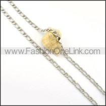 Elegant Interlocking Chain Stamping Necklace     n000287