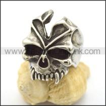 Delicate Stainless Steel Skull Ring  r002239
