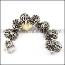 Tribal Skull Stainless Steel Bracelet b000694