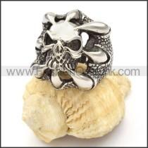 Stainless Steel Devil Skull Ring r000481