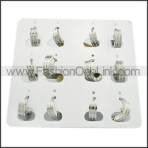 Unique Stainless Steel Cutting Earrings     e000307