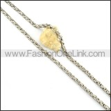 Delicate Silver Stamping  Necklace   n000160