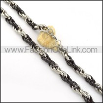 Black and Silver  Fashion Necklace  n000227