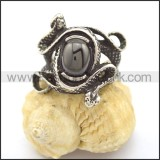 Vintage Stone Stainless Steel  Ring r002326