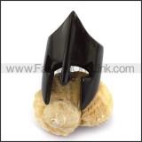 Black Gladiator Ring in Stainless Steel r003658