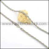 Silver Twisted Rope  Chains        n000142