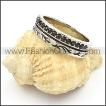Stainless Steel Zircon  Ring r000453