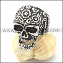 Stainless Steel Mens Skull Ring  r000715