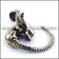 Delicate Stainless Steel Casting Pendant    p003542