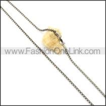 Graceful Interlocking Stamping Necklace    n000336