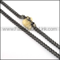 Delicate Black Plated Necklace  n000508