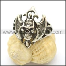 Unique Skull Stainless Steel Ring r002459