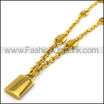 Lock Plated Necklace n001203