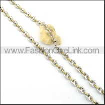 Two Tone Plated Necklace        n000314
