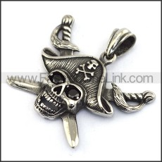Hot Selling Stainless Steel Skull Pendant   p003555