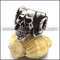 Delicate Stainless Steel Skull Ring  r001987