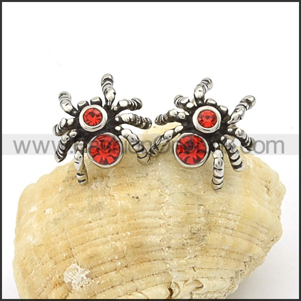 Delicate Stainless Steel Spider Earrings     e000097
