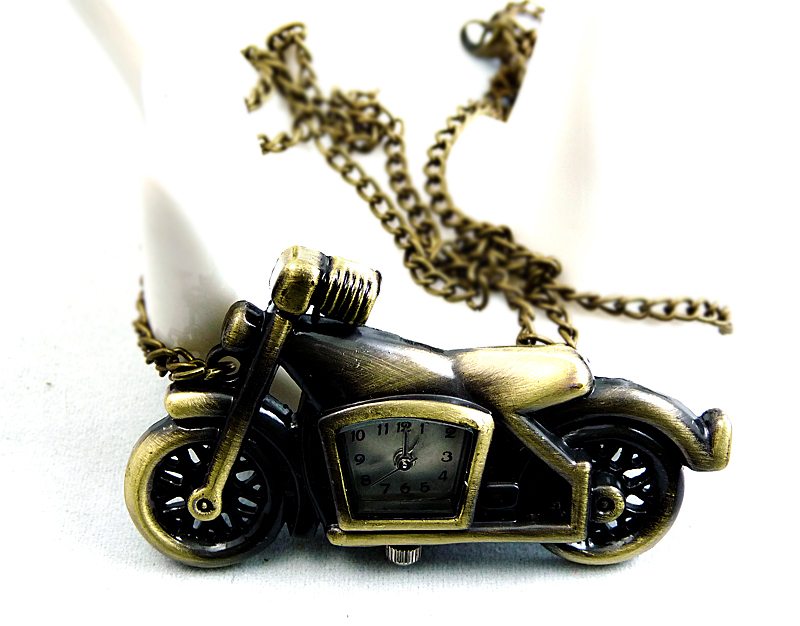 Antique Bronze Motorcycle Pocket Watch Chain for Bikers PW000079